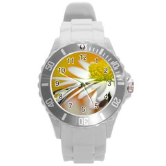 Daisy With Drops Plastic Sport Watch (Large)