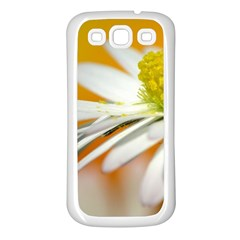 Daisy With Drops Samsung Galaxy S3 Back Case (White)