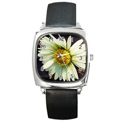 Daisy Square Leather Watch