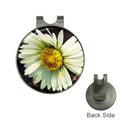Daisy Hat Clip with Golf Ball Marker