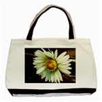 Daisy Twin-sided Black Tote Bag Front