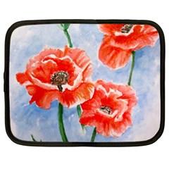Poppies Netbook Case (XXL)