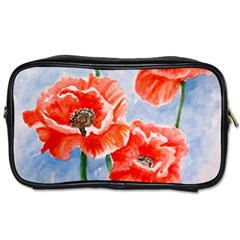Poppies Travel Toiletry Bag (one Side)