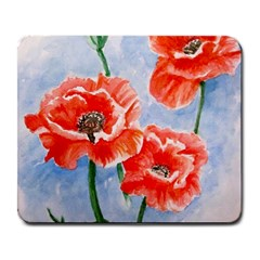 Poppies Large Mouse Pad (Rectangle)