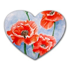 Poppies Mouse Pad (Heart)