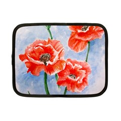 Poppies Netbook Case (small)