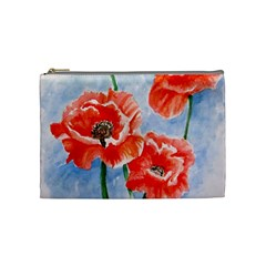 Poppies Cosmetic Bag (Medium)