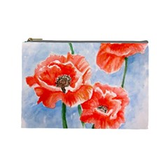 Poppies Cosmetic Bag (large)