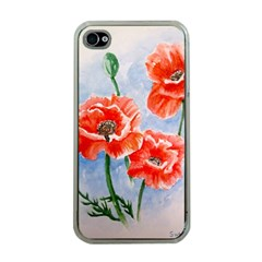 Poppies Apple iPhone 4 Case (Clear)