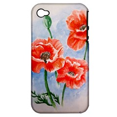 Poppies Apple iPhone 4/4S Hardshell Case (PC+Silicone)