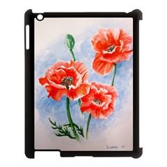Poppies Apple iPad 3/4 Case (Black)