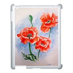 Poppies Apple iPad 3/4 Case (White)