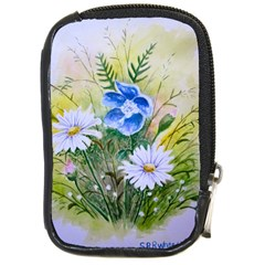 Meadow Flowers Compact Camera Leather Case