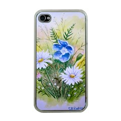 Meadow Flowers Apple iPhone 4 Case (Clear)
