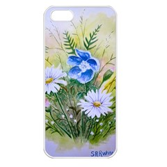 Meadow Flowers Apple iPhone 5 Seamless Case (White)