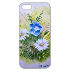 Meadow Flowers Apple Seamless Iphone 5 Case (clear)