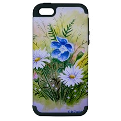 Meadow Flowers Apple iPhone 5 Hardshell Case (PC+Silicone)