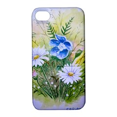 Meadow Flowers Apple Iphone 4/4s Hardshell Case With Stand