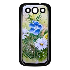 Meadow Flowers Samsung Galaxy S3 Back Case (Black)