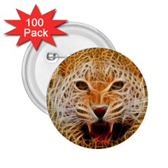 Electrified Fractal Jaguar 2.25  Button (100 pack)
