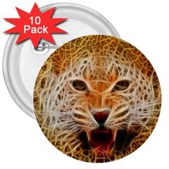 Electrified Fractal Jaguar 3  Button (10 pack)