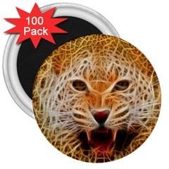 Electrified Fractal Jaguar 3  Magnet (100 pack)