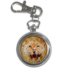 Electrified Fractal Jaguar Key Chain Watch
