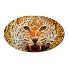 Electrified Fractal Jaguar Magnet (Oval)