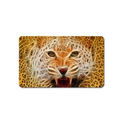 Electrified Fractal Jaguar Magnet (Name Card)