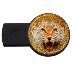 Electrified Fractal Jaguar USB Flash Drive Round (2 GB)