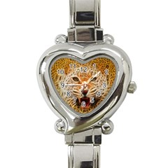 Electrified Fractal Jaguar Heart Italian Charm Watch