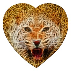 Electrified Fractal Jaguar Jigsaw Puzzle (heart)