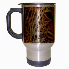 Electrified Fractal Jaguar Travel Mug (Silver Gray)