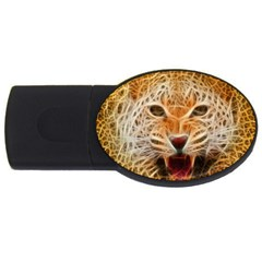 Electrified Fractal Jaguar USB Flash Drive Oval (4 GB)