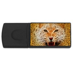 Electrified Fractal Jaguar Usb Flash Drive Rectangular (4 Gb)