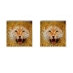 Electrified Fractal Jaguar Cufflinks (Square)