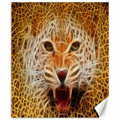 Electrified Fractal Jaguar Canvas 8  X 10