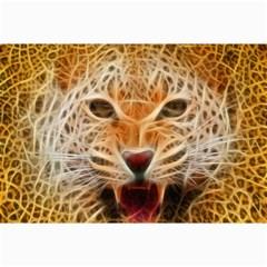 Electrified Fractal Jaguar Canvas 12  x 18