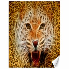 Electrified Fractal Jaguar Canvas 18  x 24