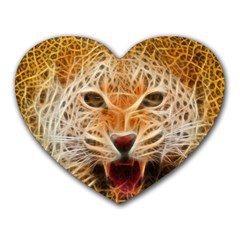Electrified Fractal Jaguar Mousepad (Heart)