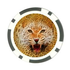 Electrified Fractal Jaguar Poker Chip Card Guard