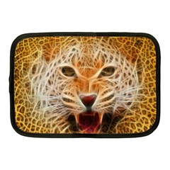 Electrified Fractal Jaguar Netbook Case (medium)