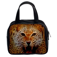 Electrified Fractal Jaguar Classic Handbag (Two Sides)