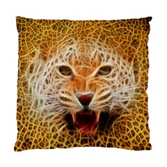 Electrified Fractal Jaguar Cushion Case (One Side)
