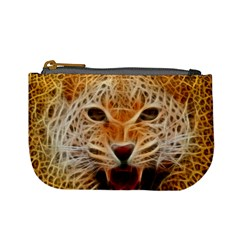 Electrified Fractal Jaguar Mini Coin Purse