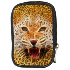 Electrified Fractal Jaguar Compact Camera Leather Case