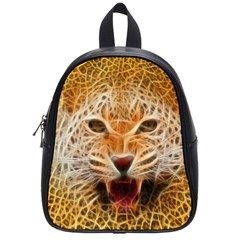 Electrified Fractal Jaguar School Bag (Small)