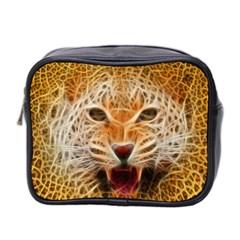 Electrified Fractal Jaguar Mini Toiletries Bag (Two Sides)