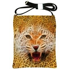 Electrified Fractal Jaguar Shoulder Sling Bag