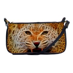 Electrified Fractal Jaguar Shoulder Clutch Bag
